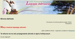 Nagłowek serwisu LepszeZdrowie.info